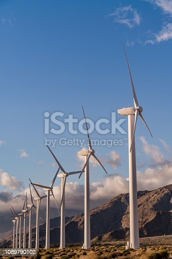 Palm Springs, California, Renewable Energy Wind Farm