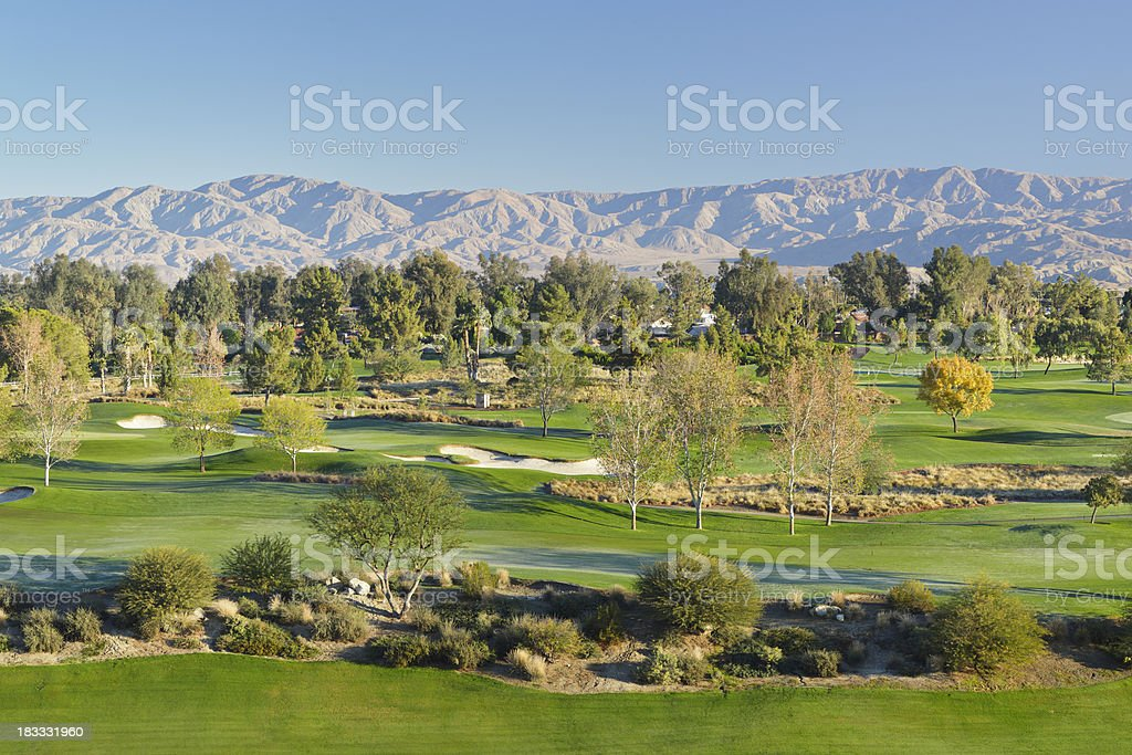 Palm Springs Golf Course stock photo