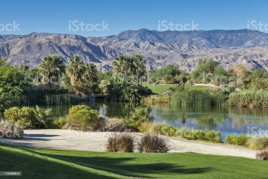 Palm Springs Golf Landscape royalty-free stock photo