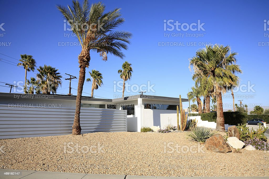 Palm Springs Iconic Mid Century Architecture stock photo