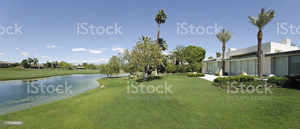palm springs lifestyle stock photo