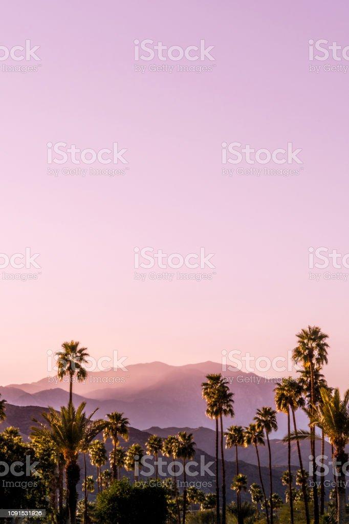 Palm Springs natursköna San Jacinto bergslandskap - Royaltyfri Avlägsen Bildbanksbilder
