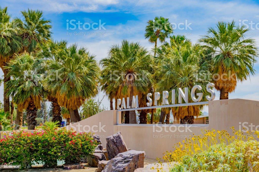 Palm Springs-Schild am Palm Springs Kalifornien – Foto