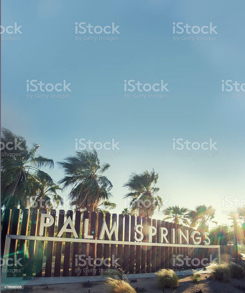 Palm Springs Welcome sign stock photo