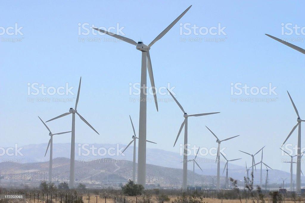 Palm Springs Wind Farm royalty-free stock photo