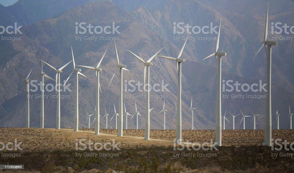 Palm Springs windmills royalty-free stock photo