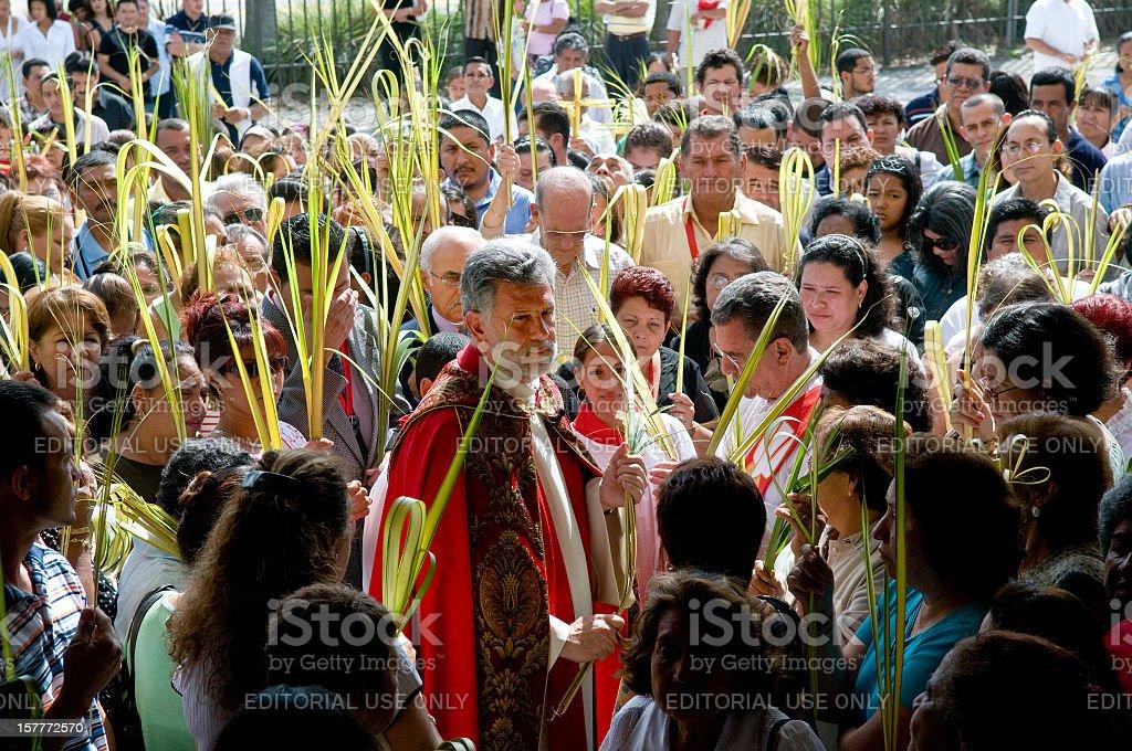Palm Sunday Celebration stock photo