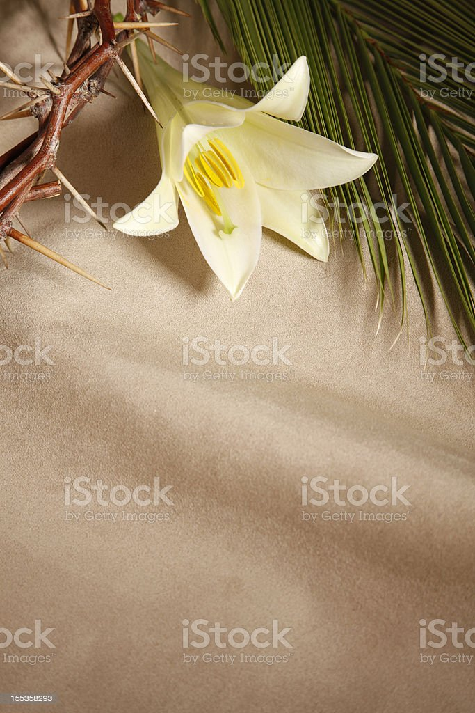 Palm Sunday, Good Friday and Easter stock photo