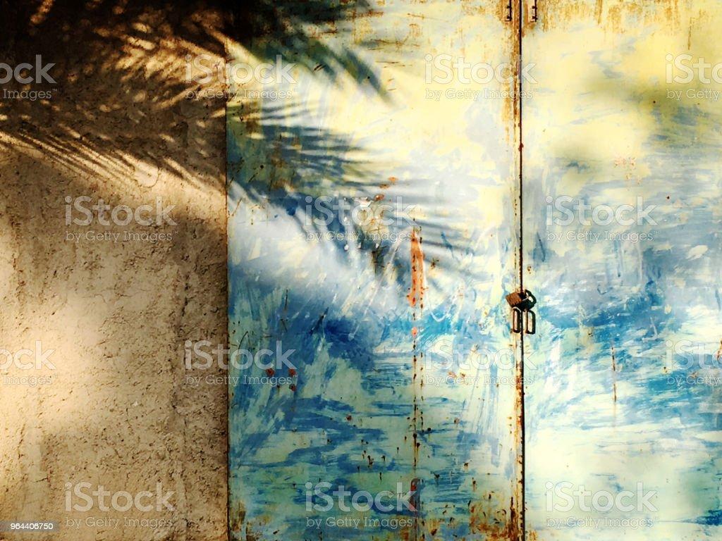 Sombras de árvores de palma, - Foto de stock de Abstrato royalty-free