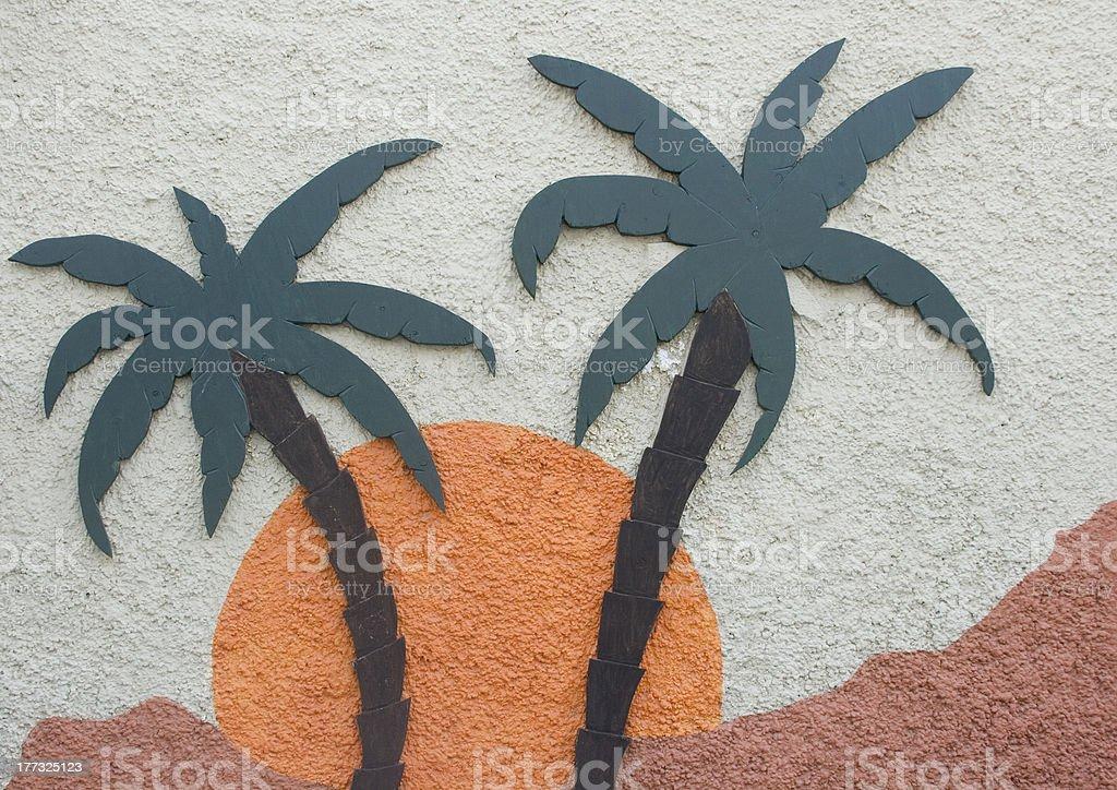 Palm Tree Sign royalty-free stock photo