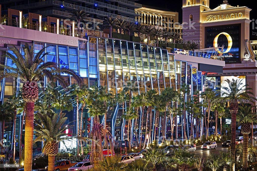 Palm Trees at S Blvd Las Vegas USA royalty-free stock photo