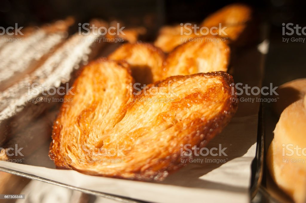 Palmeras de una pasteleria de Barcelona stock photo