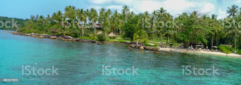 Palm trees on beautiful tropical beach on Koh Kood island - Royalty-free Asia Stock Photo