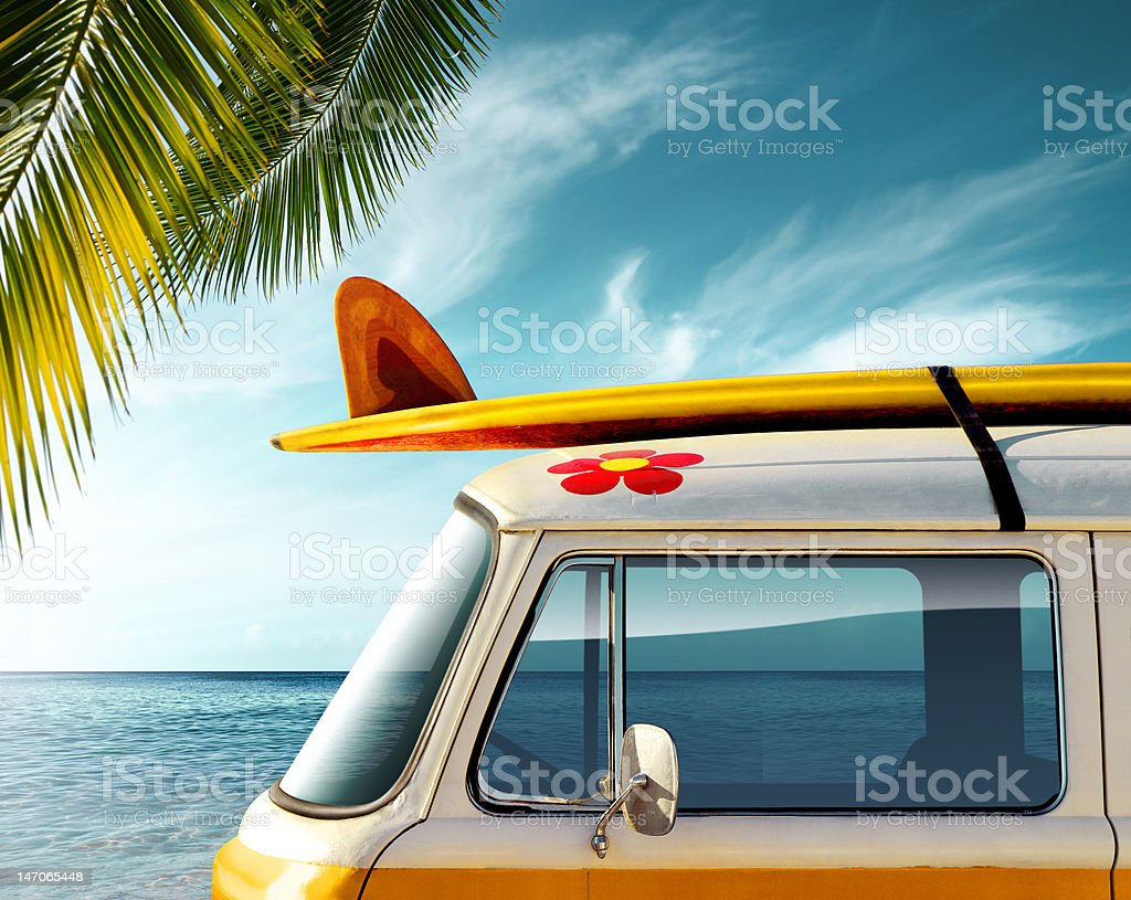 Palm Van stock photo