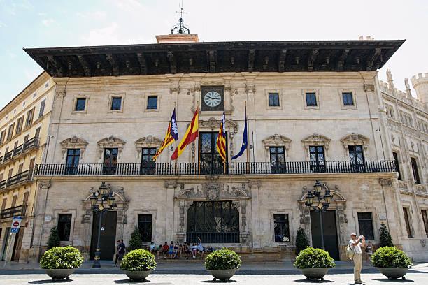 Palma city hall, Mallorca, Balearic islands, Spain stock photo