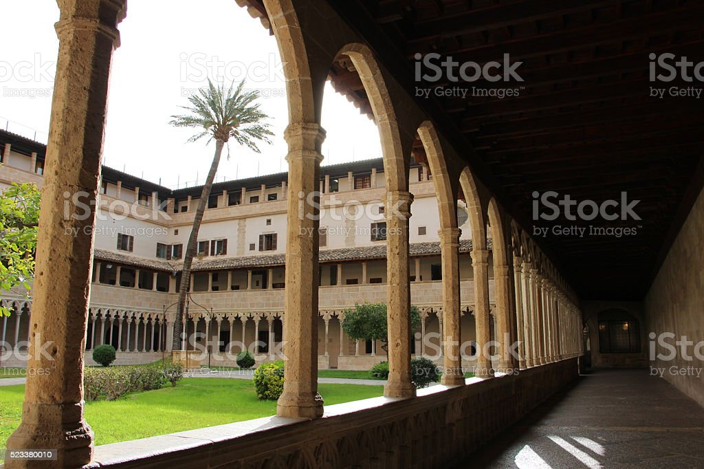 palma de majorque - cloister of sant francesc stock photo