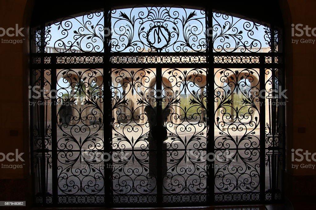 palma de majorque - decoration if a door stock photo