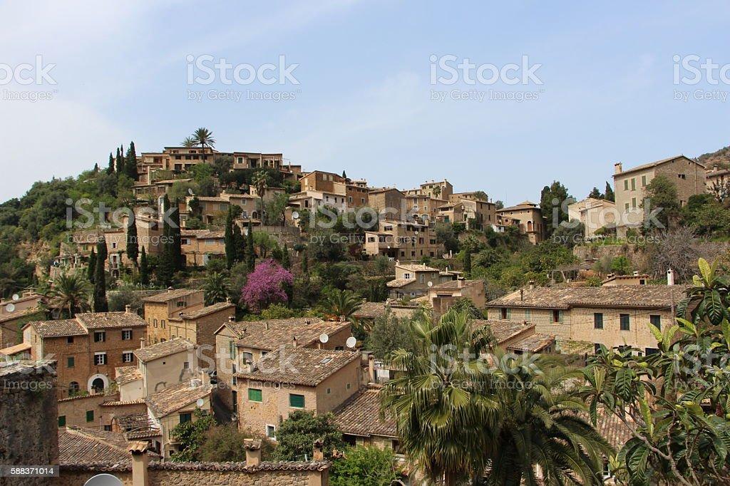 palma de majorque - deia village stock photo