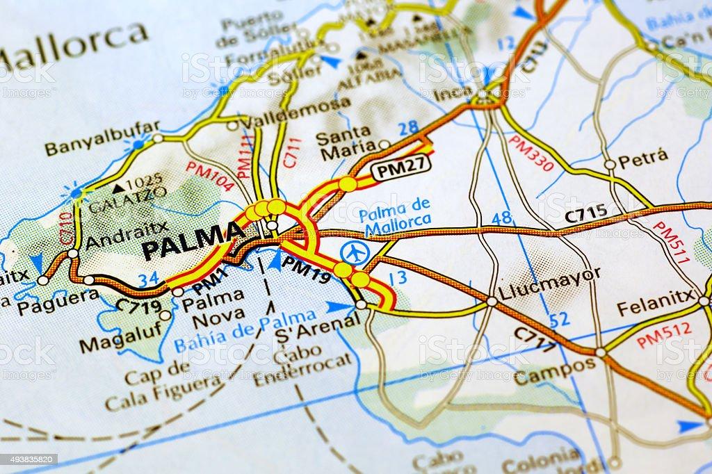Palma de mallorca map