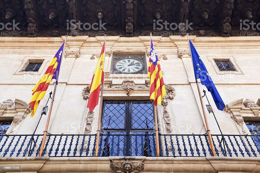 Palma Town Hall Majorca stock photo