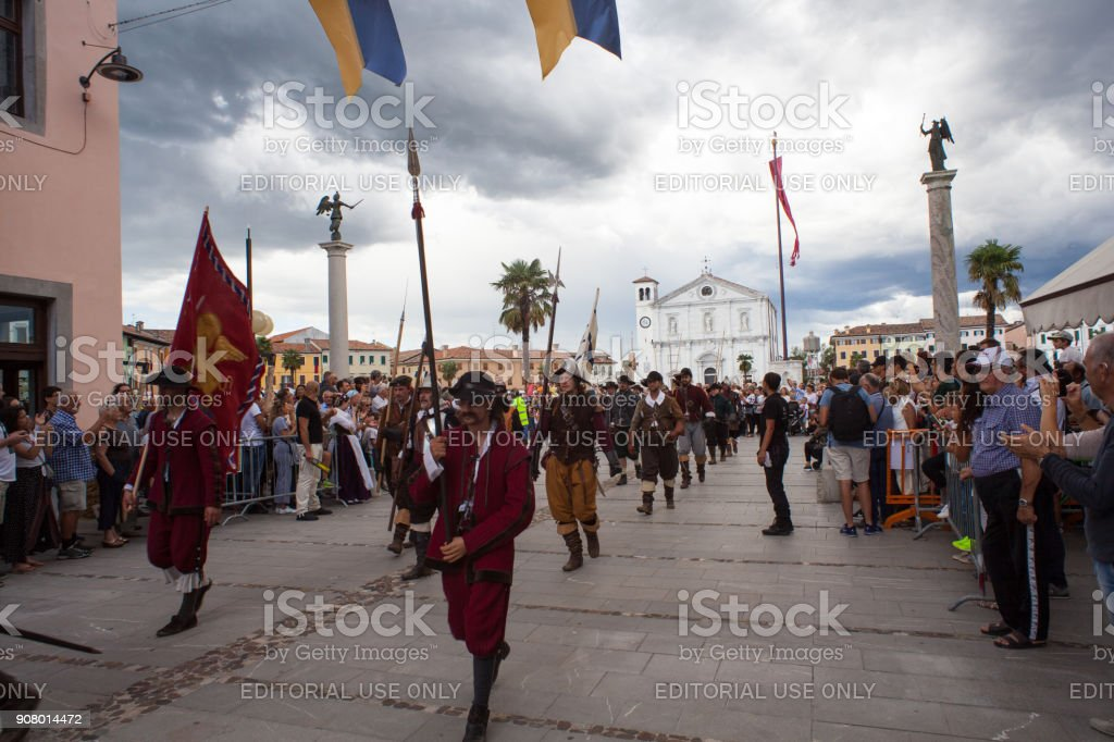 Palmanova Historical Reenactment a.d. 1615 stock photo