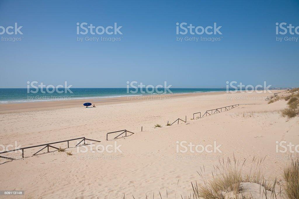 Palmar Beach in Cadiz stock photo