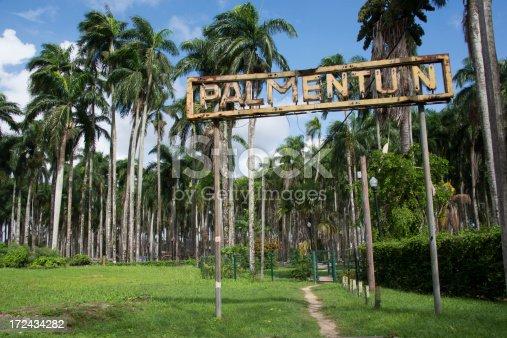 Palmentuin (Palmgarden) entrance in Paramaribo.