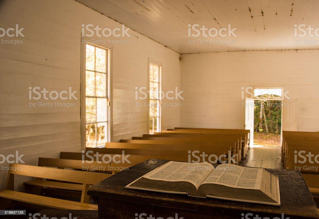 Palmer Chapel Interior stock photo