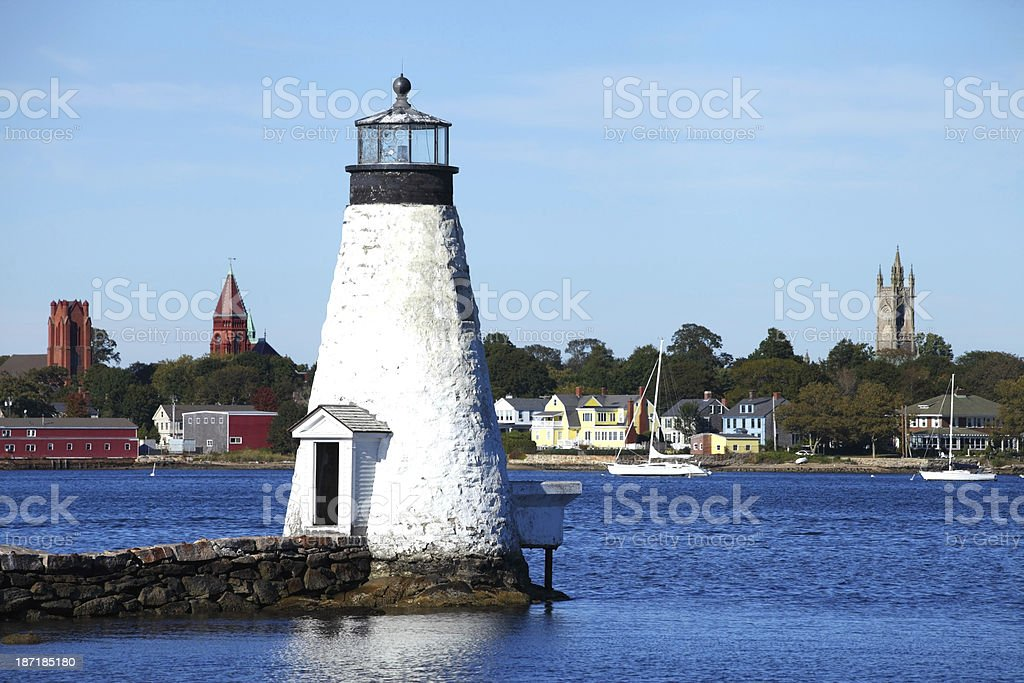 Palmer Island Lighthouse stock photo