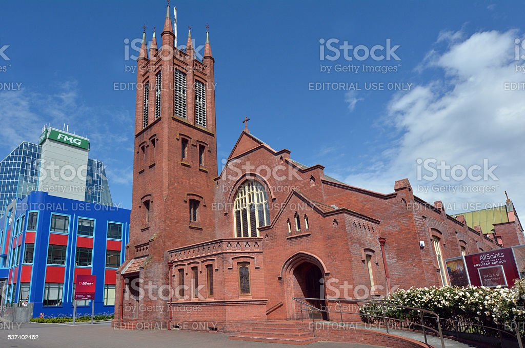 Palmerston North - New Zealand - All Saints Anglican Church stock photo