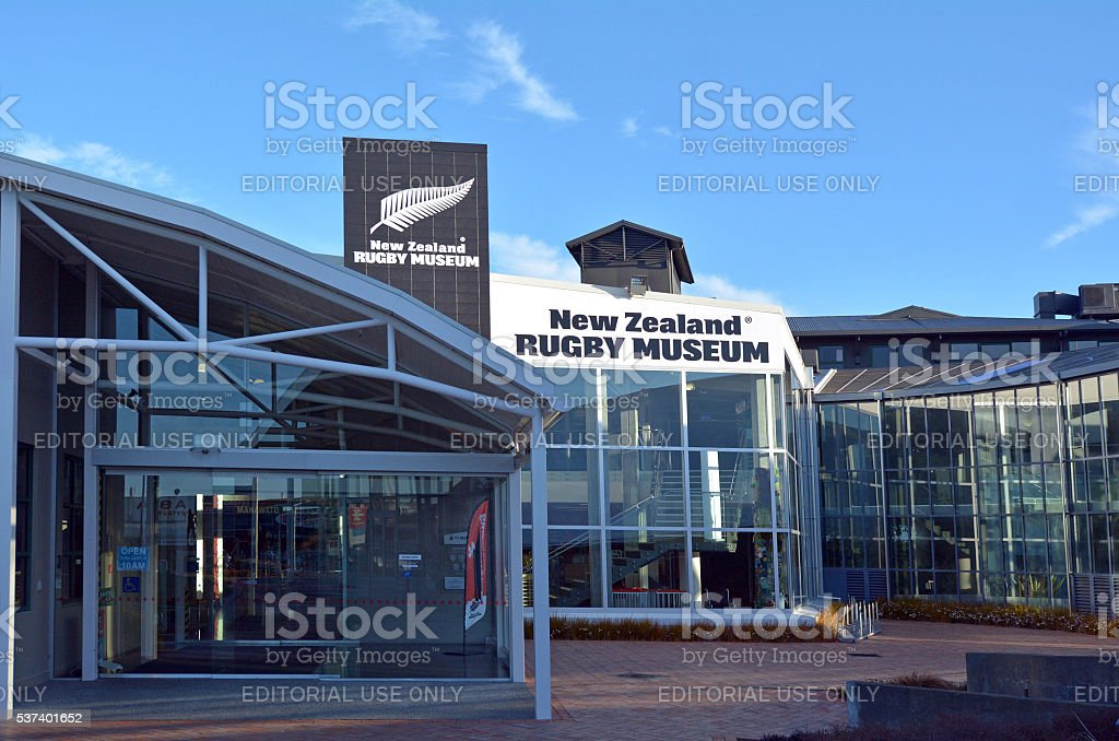 Palmerston North - New Zealand Rugby Museum stock photo