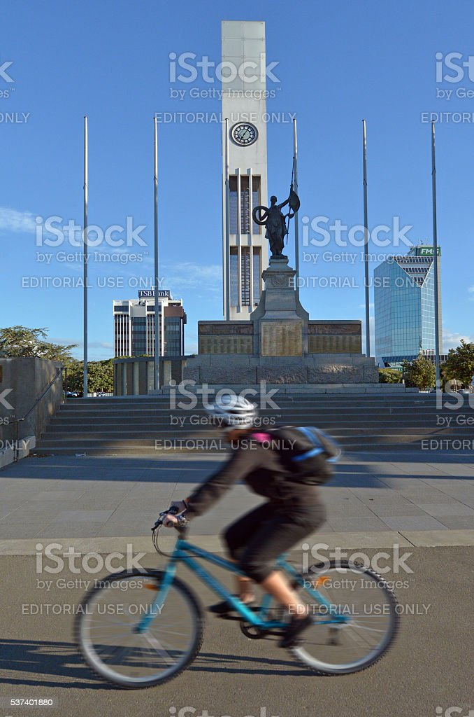 Palmerston North - New Zealand - The Square stock photo