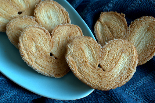 palmier cookies in a plate