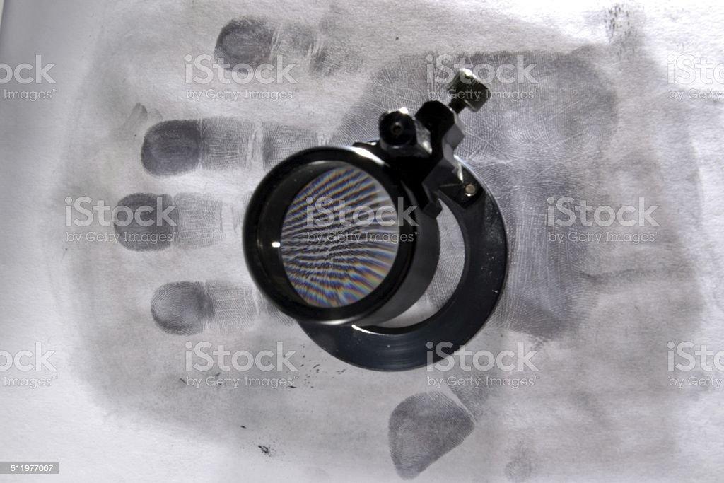 Palmprint stock photo
