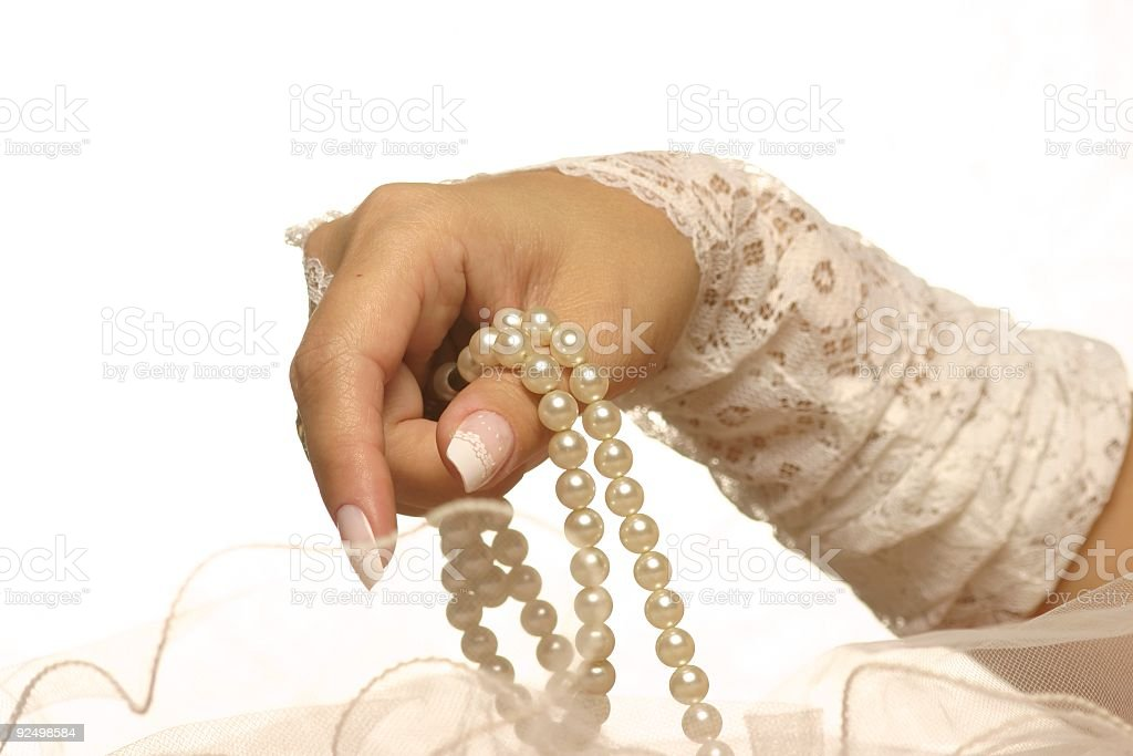 Palms and pearls 3 royalty-free stock photo