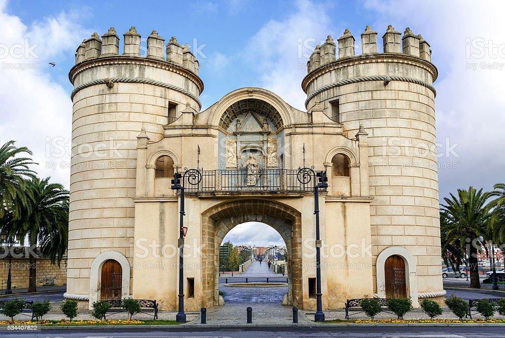 Palms Gate,  Badajoz Spain stock photo
