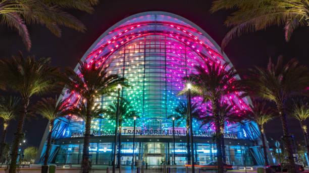 Palms Rainbow stock photo