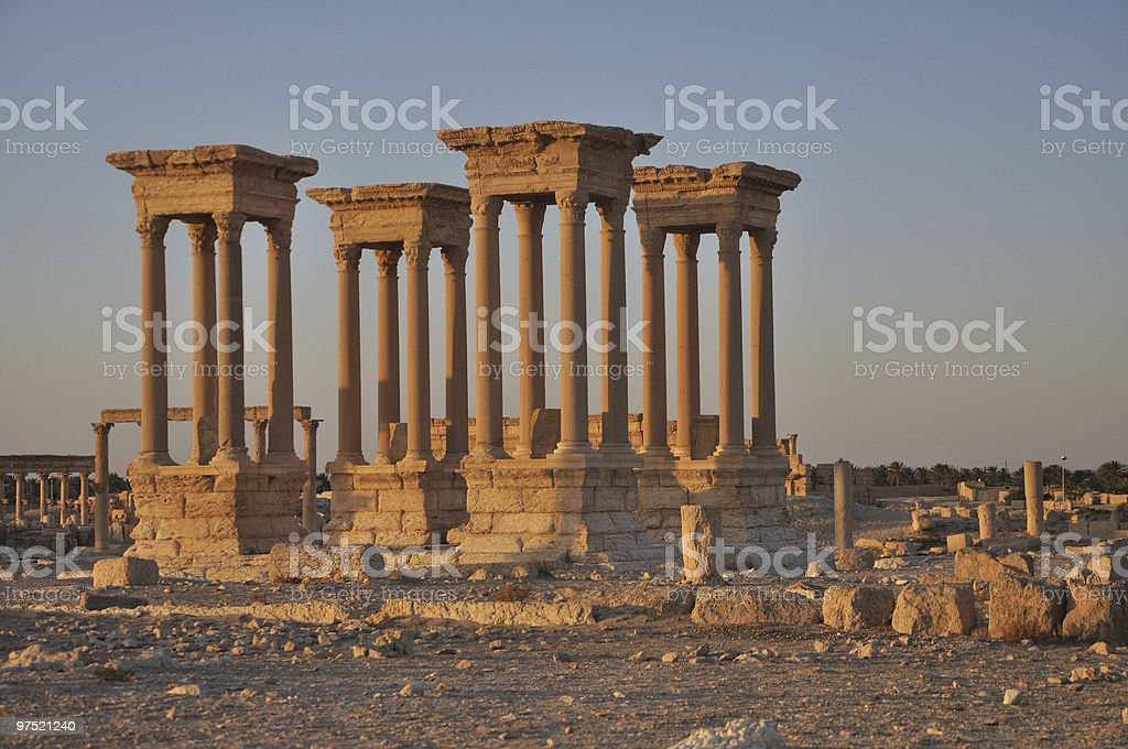 Palmyra ruins royalty-free stock photo