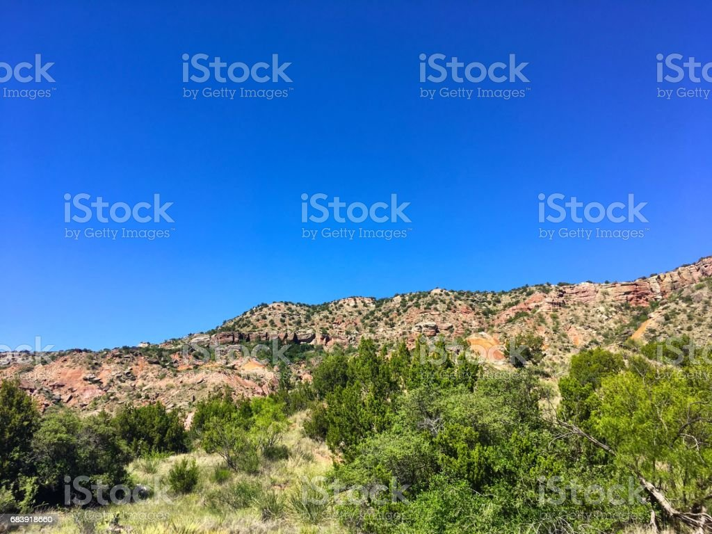 Palo Duro State Park in Texas stock photo
