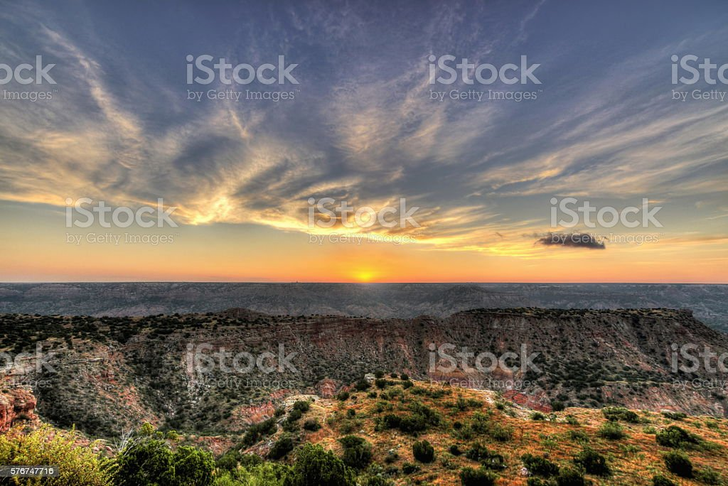 Palo Duro Sunrise stock photo