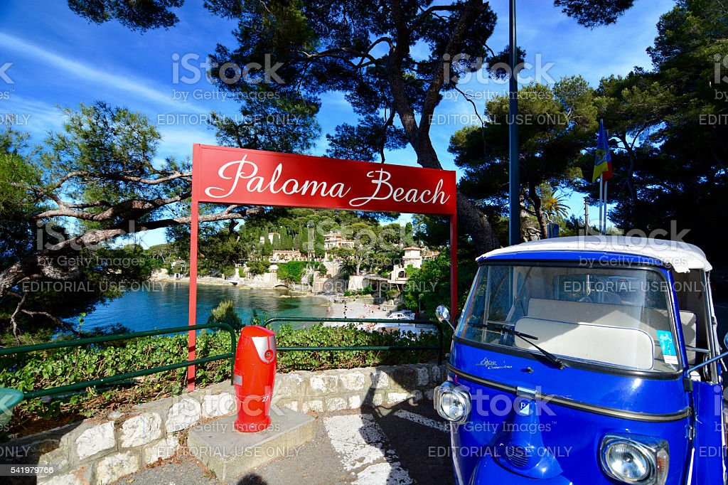 Paloma beach and beach club in the south of france stock photo