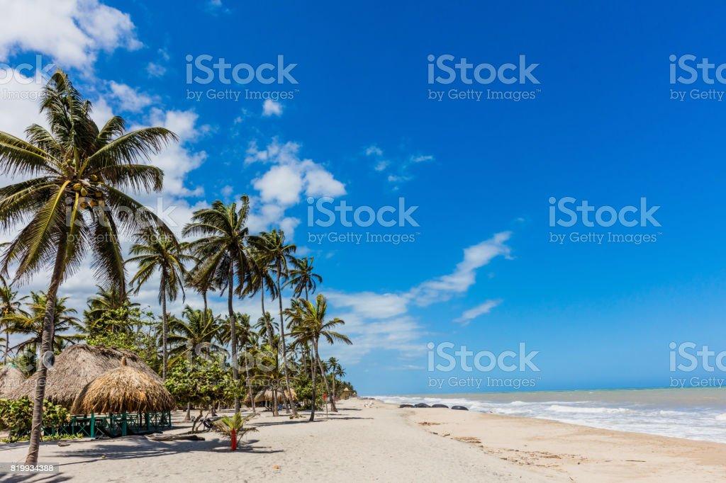 Palomino beach Landscapes La Guajira Colombia stock photo