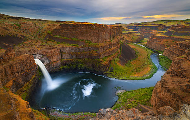 Palouse Falls in Spring stock photo