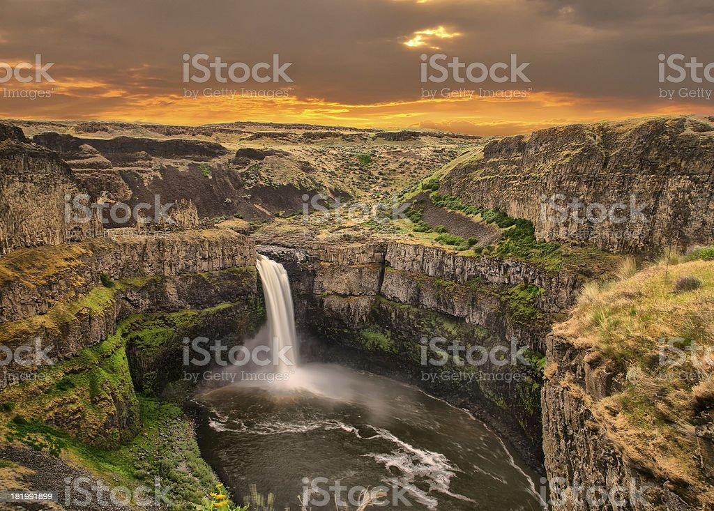 Palouse Falls WA stock photo