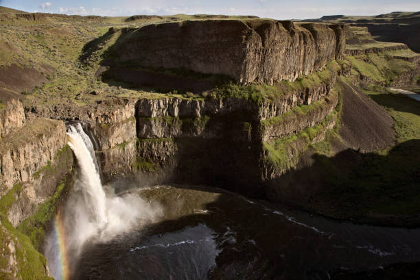 Palouse Falls Washington stock photo