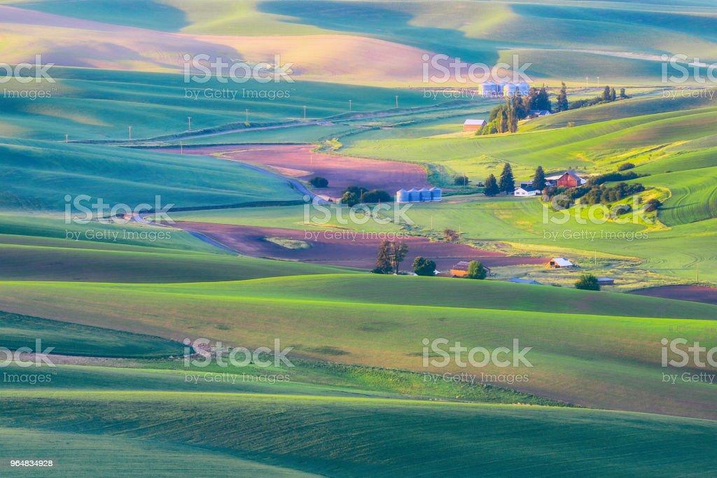 Palouse Farm royalty-free stock photo