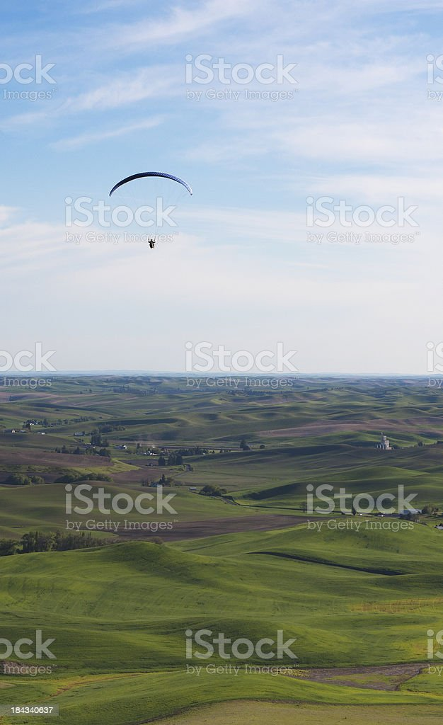 Palouse Paraglider royalty-free stock photo