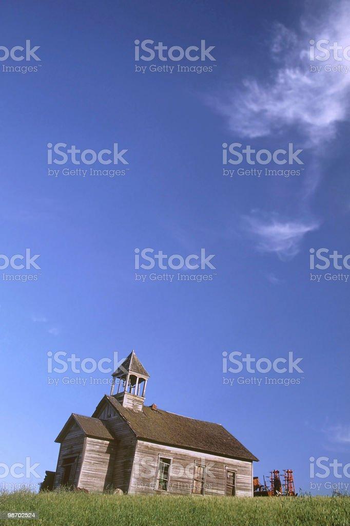 palouse schoolhouse stock photo