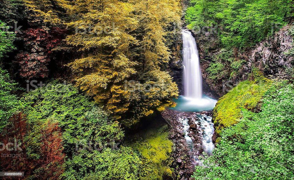 Palovit Waterfall, Rize, TURKEY stock photo