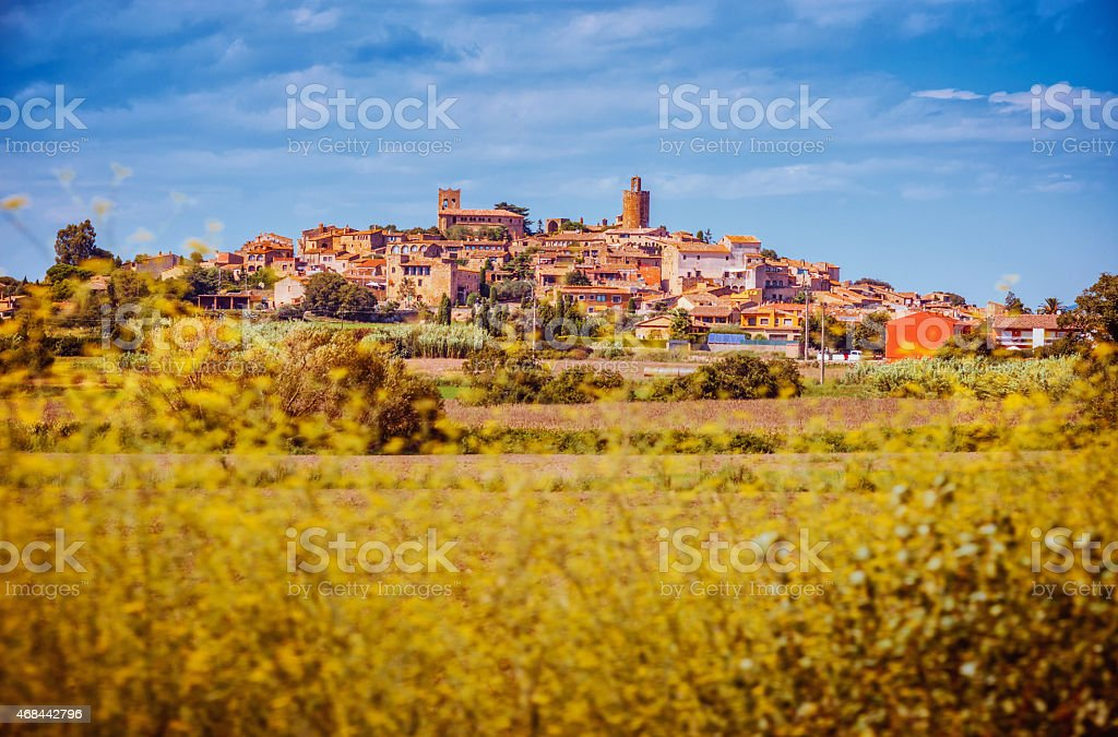 Pals - Costa Brava, Baix Emporda, Spain stock photo